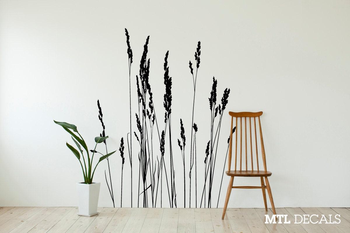 Reeds Wall Decal Nature Grass Wall Sticker 50 X