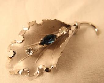 Bond Boyd Sterling Silver Leaf Pin / Brooch
