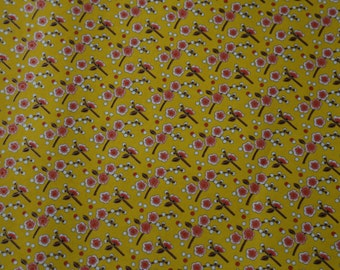 SCRAP PAPER - Chiyogami - Flowers in yellow