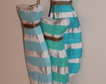 Set of 3 Picket Fish - Reclaimed Wood Fish