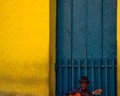 Cuba Photography, Cuban Print Art, Musician Wall Art,  Fine Art Photography, Street Music Photography, People Photography; Trinidad, Cuba