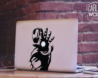 Macbook decal/ Ironman sticker/ Ironman power decal