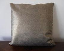 Metallic  Gold Pillow - Gold Denim Pillow Cover - Gold pillow cover - metallic gold cushion - gold decor pillow - metallic pillow cover