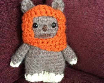 Star Wars Wicket the Ewok Amigurumi, hand crocheted