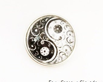 Snap Charm Yin Yang fits Noosa, Ginger snaps jewelry and other interchangeable jewelry, Christmas gifts, Gift for her, Christmas gift ideas