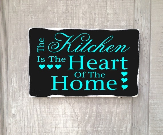 The Kitchen Is The Heart Of The Home Rustic Distressed Wood