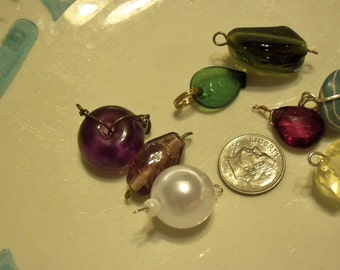 Assorted wire wrapped beads