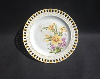 Antique french dish small cakes