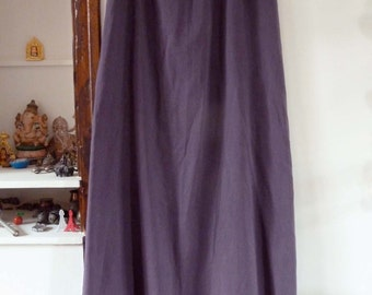vintage skirt petticoat half-slip purple flounce XS-S 90's