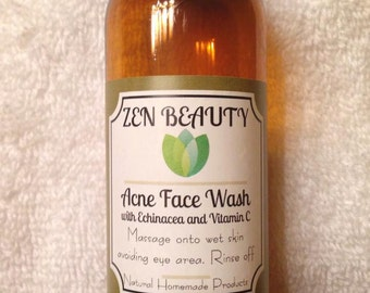Organic Acne Face Wash- Face Cleanser with Acne fighting oils
