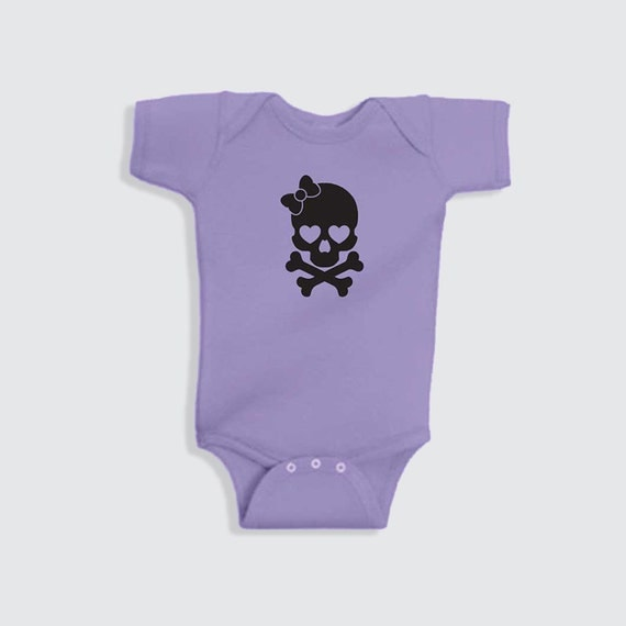 cute baby girl onesie skull onesie for girls by