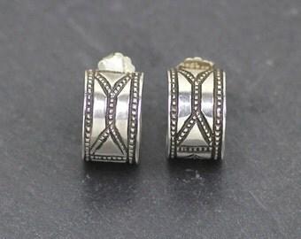OVAMBO 2 - African hoop earrings, Sterling Silver