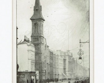 London:Soho's Charlotte Street 1912- classic historic London landmark image, - mounted original print by Frank L.Emanuel.