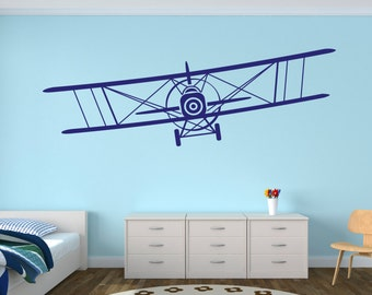 Exceptionnel Airplane Wall Decal   Biplane Decal   Baby Room Plane Decor   Nursery Wall  Decals Vinyl