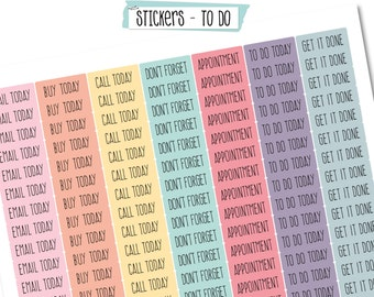 Scrapdelight Planner Stickers - To Do