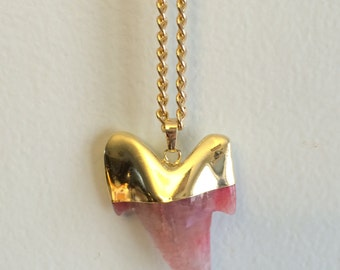 Shark Tooth Gemstone Necklace