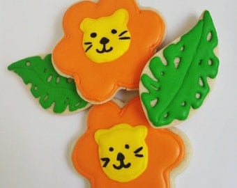 Lion Sugar Cookies, zoo, safari themed birthday