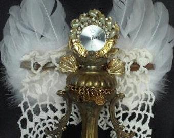 assemblage angel, junk sculpture