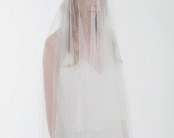 Bridal Veil, Waltz Length Veil, Silk English Tulle.