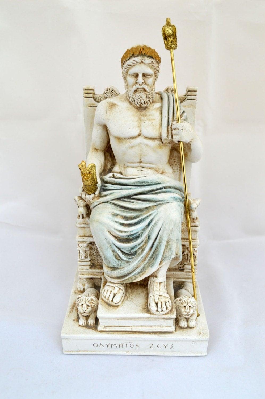 zeus ancient greek god king leader of all 12 gods sculpture