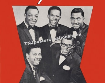 The Temptations 1966 Poster – Motown Records Studio A Detroit My Girl