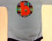 New Baby Boy Initial Onesie- Boys Onesie- Baby Initial ...