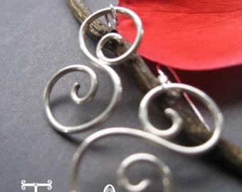 Sterling Silver S Scroll Swirl Earrings