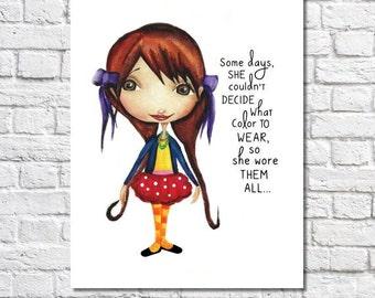 Girls Bedroom Decor Idea Girl Print Little Girl Room Art Tween Fashion Artwork Closet Decor Sign Teen Girl Art Fashionista Gift Girls Quote