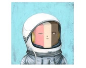 Astronaut Ice Cream,  archival print of an original painting by Anna Tillett Designs