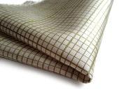 Graph paper pocket square. Green grid paper mens hanky. Choose moss on platinum, white, ivory & more! Architect, enginer, designer gift.