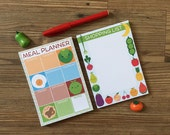 Kawaii Meal Planner and Shopping List - Set of 2 Pads