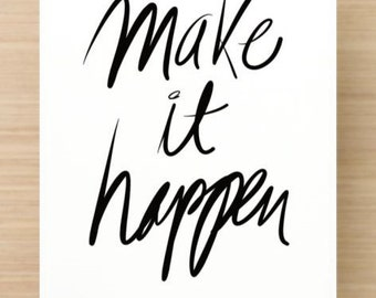 Make it happen - 5 large size Postcards set