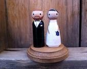 Wedding Cake Topper- Completely Custom, Anniversary Gift, PegBuddies, Wood Peg Dolls, Peg People