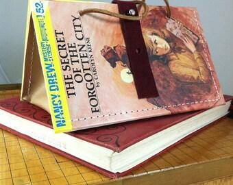 Vintage Nancy Drew, The Secret of the Forgotten CityHandbag, repurposed