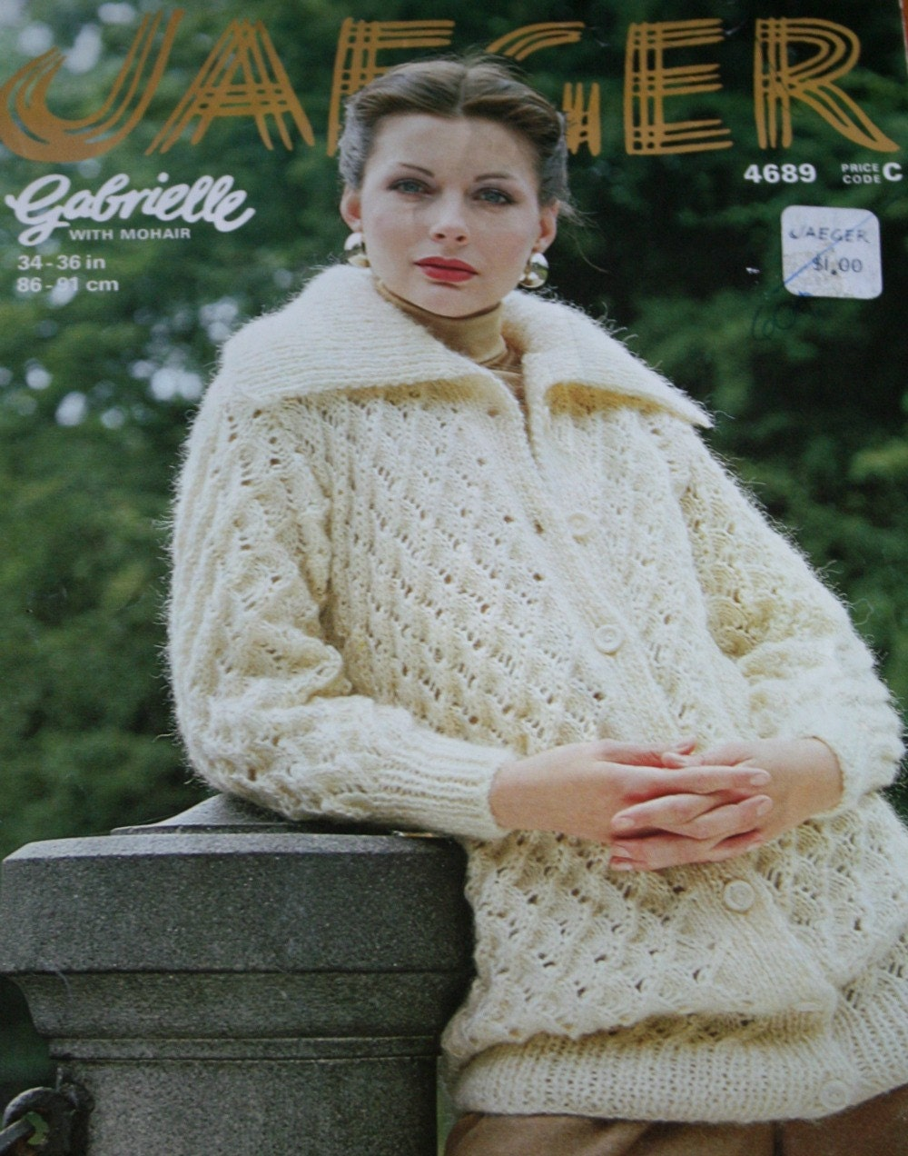 Cardigan knitting pattern warmly elegant jaeger 4689 sweater details knitting pattern bankloansurffo Images