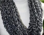 Crochet Pattern for a Chunky Chain Cowl Scarf Scarflett Women Instant Download PDF