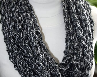 Scarf Pattern Crochet Chunky Chain Cowl Scarf Scarflet Women Instant Download PDF