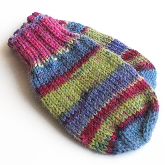 Knitting Pattern For Baby Mittens Without Thumb : Baby Mittens. Thumbless Mittens. Knit Winter Mitts Without
