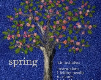 Needle Felting Kit.  Spring Tree
