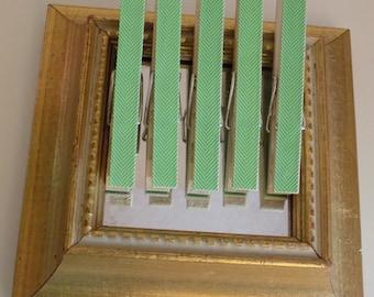 Mint Green Arrows Decorative Clothes Pins