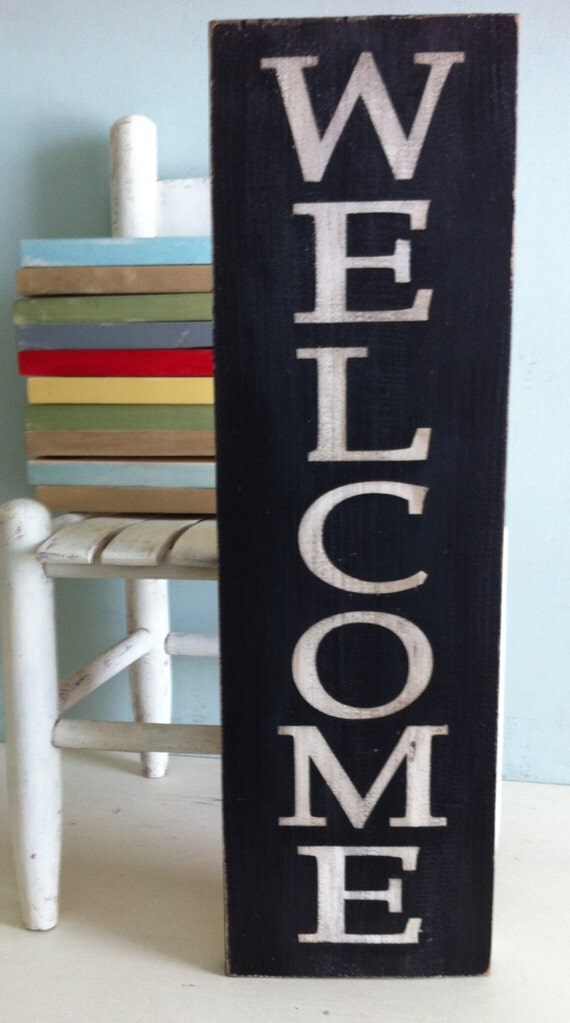 Welcome Sign. rustic door sign. front porch sign. wood welcome sign