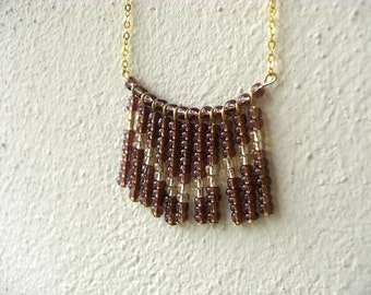 Chevron Fan Necklace