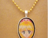 Sailor Venus Sailor Moon Sailor Scouts recycled comic book pendant