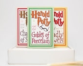Gag gift parody matchboxes -- Harold Potty Lites. Literary lovers gift. Set of 3. Book lovers gift. Fart themed mini matchbooks. Silly stuff