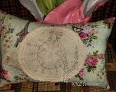 French SHABBY COTTAGE  CHIC Decorative Throw Pillow
