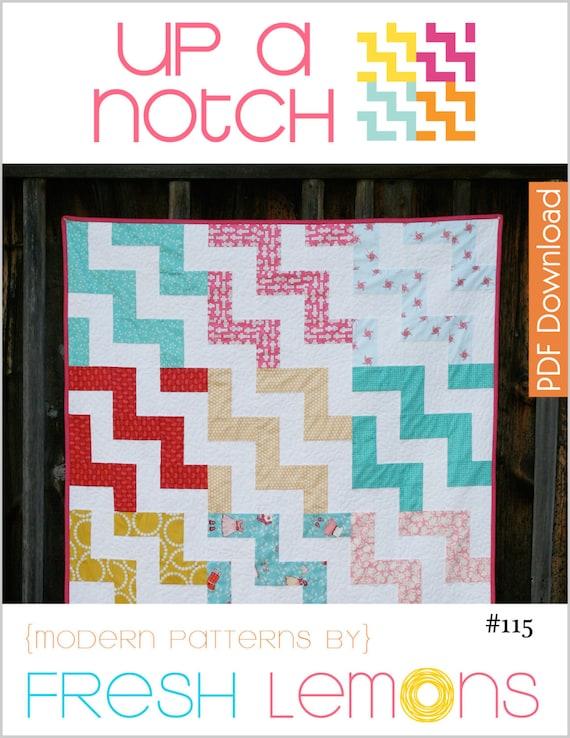 Modern Quilt Pattern - Up a Notch - PDF