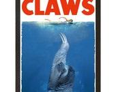 "CLAWS, Sloth Poster, Art Print, 18"" x 24"""