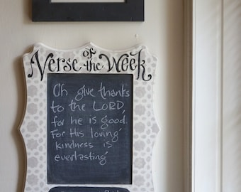 Verse of the Week Chalkboard Allison Frame