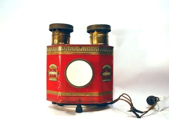 vintage antique Radio Junior postcard projector made by HC White Co, circa 1900