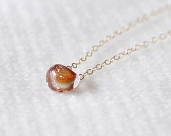 kerry in hazel - glass bead necklace by elephantine